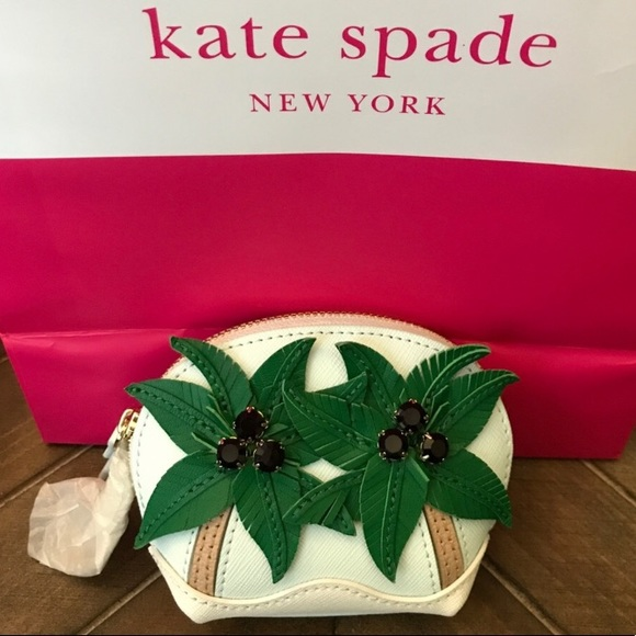 9f4b403112fb Kate Spade Palm Tree coin purse