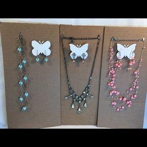 Jewelry - Set of 3 Chokers & Matching Earring Sets