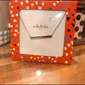 Jewelry - Stella & Dot engraved LOVE necklace with heart