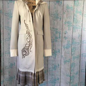 NWT custom made/embellished long jacket