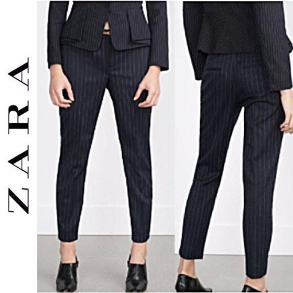 e533b2e4 Zara Navy Pinstripe Pants. M_5a199708c284563e6b00e004