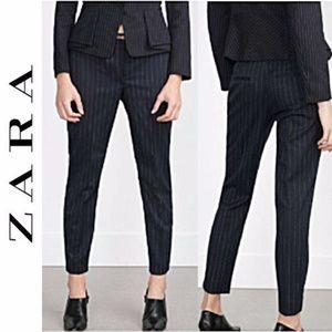 7d81bca3c0 Zara Pants - Zara Navy Pinstripe Pants