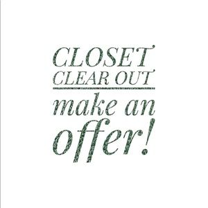 Accessories - CLOSET CLEAR OUT! Discounts on everything!