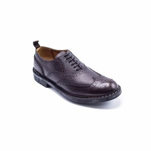 Perforated Commando Brogues Brown Oxfords