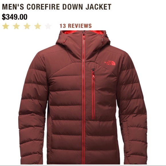 North face men s down jacket Brown coat ebcc453ad
