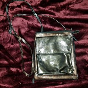 Handbags - Faux leather crossbody bag with adjustable straps