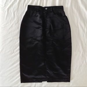 Betsey Johnson satin high waisted pencil skirt