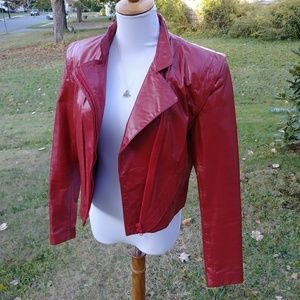 Vintage red genuine leather Wilsons jacket
