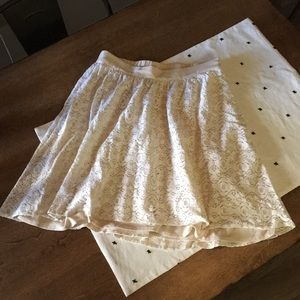 Collective Concepts cream lace skirt