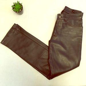 ⭐️Gap black Genuine leather pants size 2
