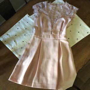BCBG blush cocktail dress