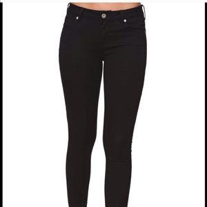 bullhead black denim skinny jeans