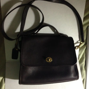 Vintage Coach Mahogany Court Bag 9870