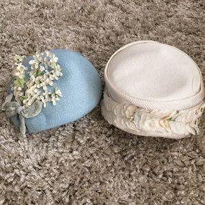 Set of 2 Vintage 50's Hats