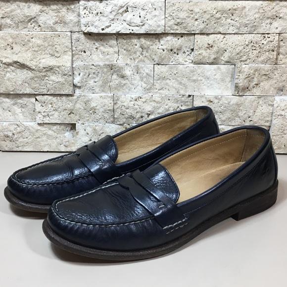 b03112f1c1a Frye Otis Leather Slip On Penny Loafer Shoes