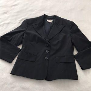 Michael Kors Wool Black Classic Career Blazer