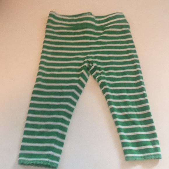 e242396b0d4d4 Mini Boden Bottoms | Cropped Leggings 78y Green White | Poshmark