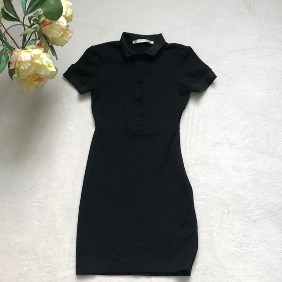 748c9c0c ⭐️ZARA⭐️black polo shirt woman dress. M_5a19bbd0fbf6f9cd8101cb9a