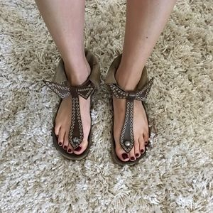Olive suede Isabel Marant Edris sandals