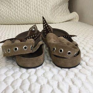 ade887c410ee Isabel Marant Shoes - Olive suede Isabel Marant Edris sandals