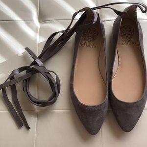 NWOT Vince Camuto Lace up Flats