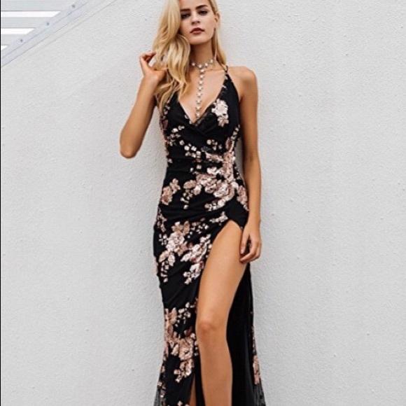 Sexy high slit dresses