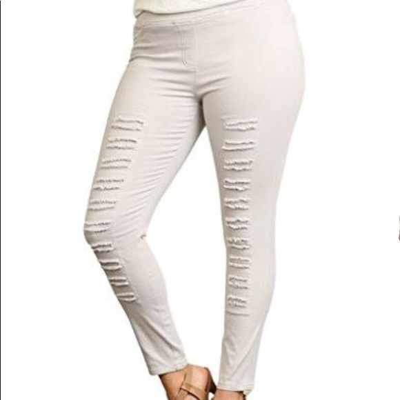 d29d280cc40 Umgee Pants - Umgee Plus Distressed Jegging