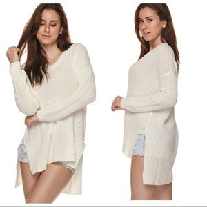 Sweaters - Ivory High Low Knit Sweater