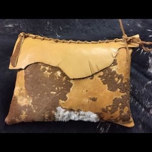 Accessories - Handcrafted leather/cowhide decorative pillow