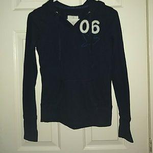 Women's xs long sleeve hooded shirt