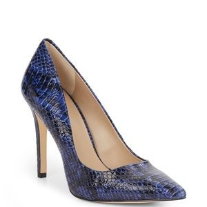 NEW! Saks Fifth Avenue Cathy Snakeskin Pump