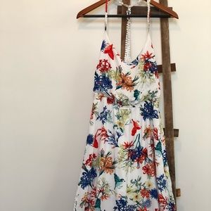 Ark&co Floral Print Racer back Maxi Dress Medium