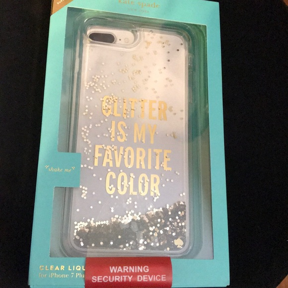 timeless design 02040 f6589 KS glitter is my favorite color iPhone 7 Plus case NWT