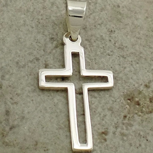66ff0d4e55fd60 Sterling Silver Collection Jewelry | Sterling Silver Open Cross ...