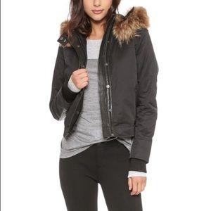 Vince black anorak/bomber jacket