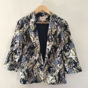Floral blazer 3/4 sleeves, size S