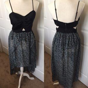 BCBGeneration Cut Out Hi Low Dress Size 6