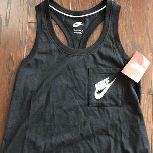 5909b0deadc8e3 Nike Tops - Women s Nike Logo One Pocket Tank Top