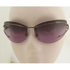 RARE FERRAGAMO Rimless Gray Lilac Lens Sunglasses