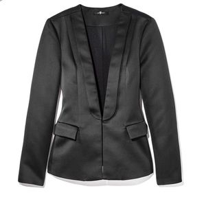 7 for all mankind tuxedo blazer