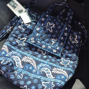 Mini but mighty blue coin backpack by Vera Bradley