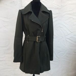 Kenneth Cole dark olive green coat size 12-14 lg