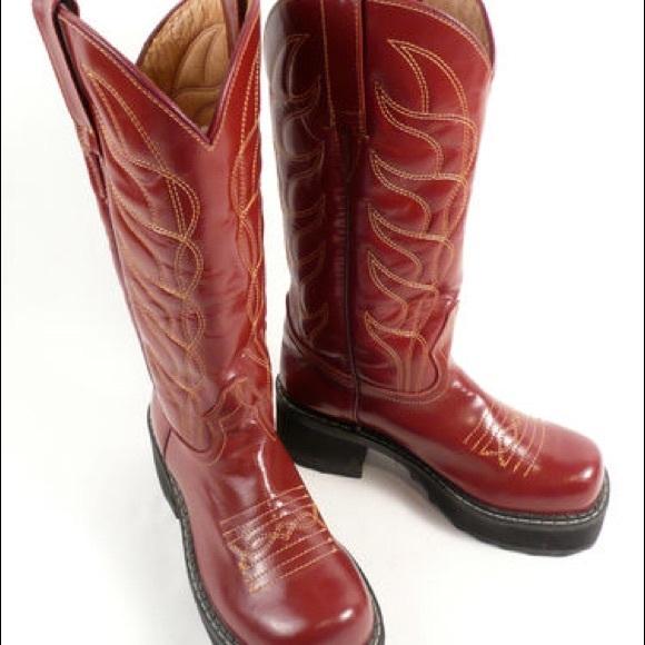 5d7c4908bea FINAL MARKDOWN Fluevog flame cowboy boots!