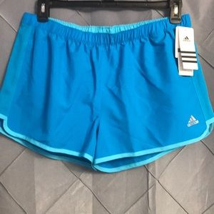 💋 Adidas climalite performance blue lined short