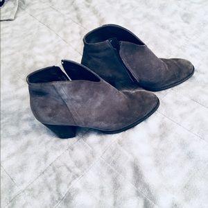 Paul Green suede booties - size 10