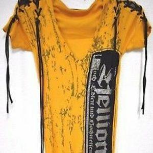 Salvage Brand yellow hoodie