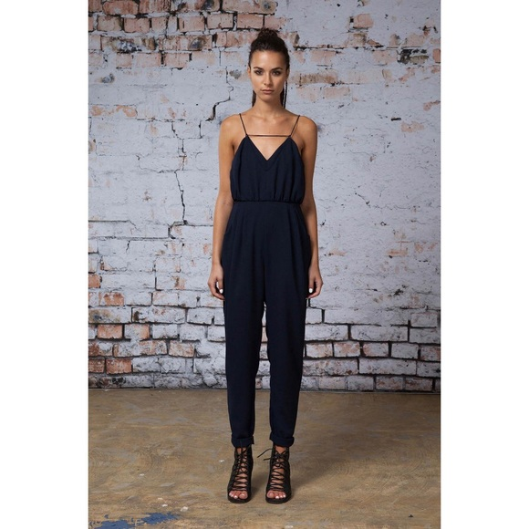 c7ffaf12e468 Finders Keepers Pants - Finders Keepers navy blue jumpsuit jessica alba xs