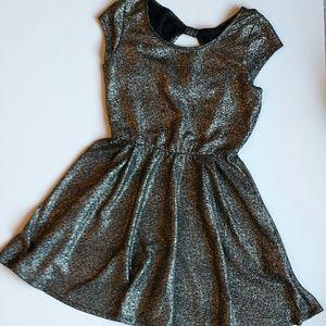 Dresses & Skirts - Dark Silver Metallic Dress