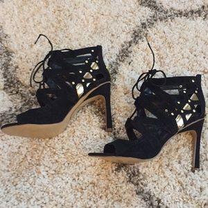 Dolce Vita black suede heels!
