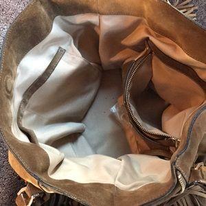 8fe4553e29 Calvin Klein Bags | Calvin Kline Suede Olive Brown Tote Fringe Bag ...